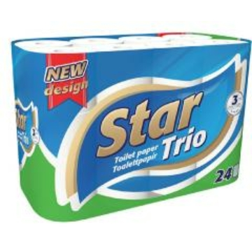 Star WC papír 24 t. 3 r. 100 lap Trio