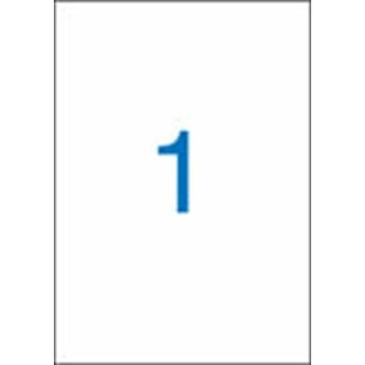 Etikett, univerzális, 210x297 mm, VICTORIA, 100 etikett/csomag