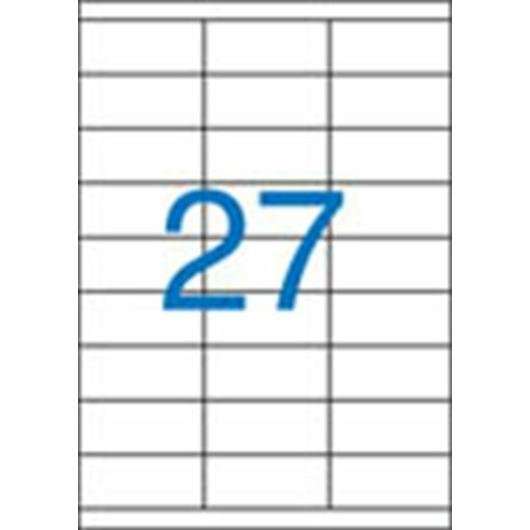 Etikett, univerzális, 70x30 mm, VICTORIA, 2700 etikett/csomag