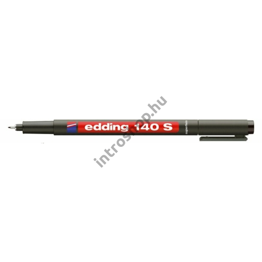 """Alkoholos marker, OHP, 0,3 mm, EDDING """"140 S"""", fekete"""
