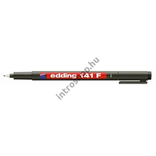 "Alkoholos marker, OHP, 0,6 mm, EDDING ""141 F"", fekete"