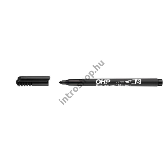 Alkoholos marker, OHP, 2-3 mm, B, ICO, fekete
