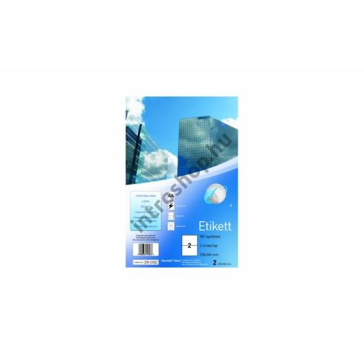 Etikett 63,5x38,1mm 21 címke/lap SilverBall 100lap/dob