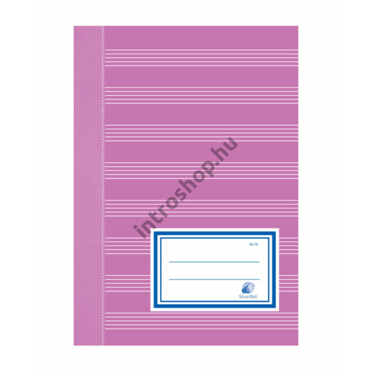 Füzet (36-16) A5 HANGJEGY SilverBall  20db/csom