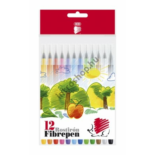 """Filctoll készlet, 1 mm, ICO """"Süni 300"""", 12 különböző szín"""