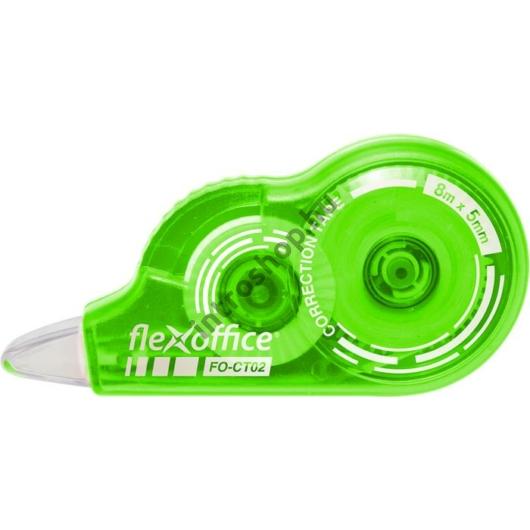 """Hibajavító roller, 5 mm x 8 m, FLEXOFFICE """"FO-CT02"""", vegyes színek"""