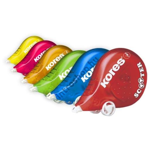 """Hibajavító roller, 4,2 mm x 8 m, KORES """"Scooter"""" vegyes szín"""