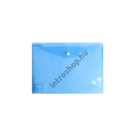 Irattartó tasak A4 PP patentos transzparens kék 12 db /csomag BLUERING