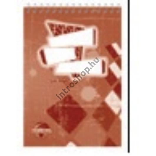 Spirálos jegyzettömb A5 60 lapos kockás  SilverBall
