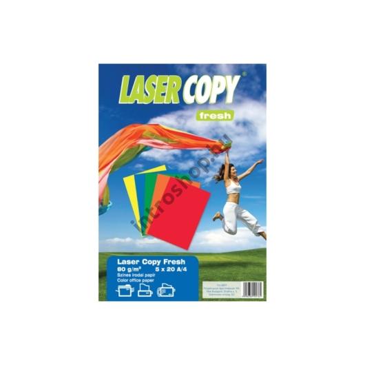 Másolópapír csomag A/4 80g ÉLÉNK színes 5x20ív LASER COPY FRESH
