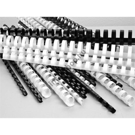 Spirál, műanyag, 8 mm, 21-40 lap, VICTORIA, fehér