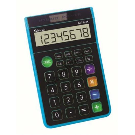 """Számológép, asztali, 8 számjegy, VICTORIA """"GVA-612K"""", kék"""