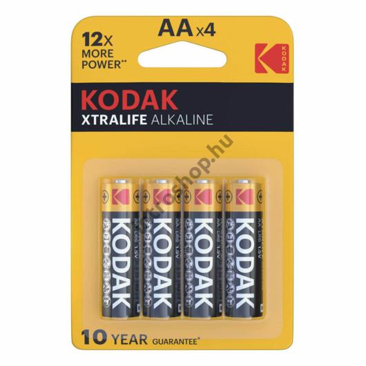 Kodak Xtralife Alkáli Ceruza Elem AA (1,5V) B4