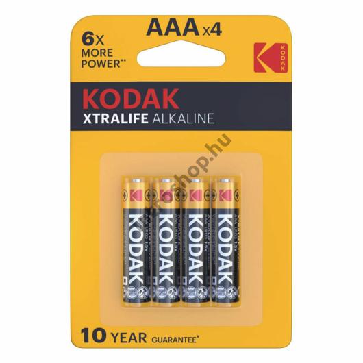 Kodak Xtralife Alkáli Mikro Elem AAA (1,5V) B4