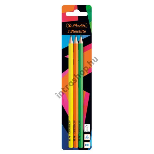 Ceruza / 2 db trio HB Neon Art