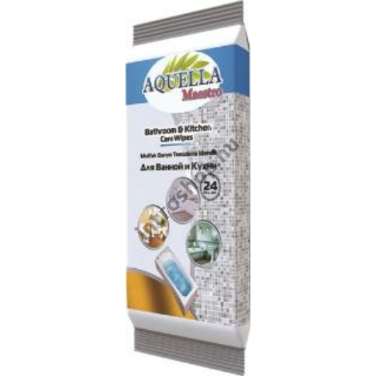 Aquella Nedves törlőkendő 24 db Mester konyha és fürdőszoba tisztító AQU.GEN.24