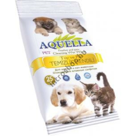 Aquella Nedves törlőkendő 25 db  Kutya és macska AQU.TPT.25