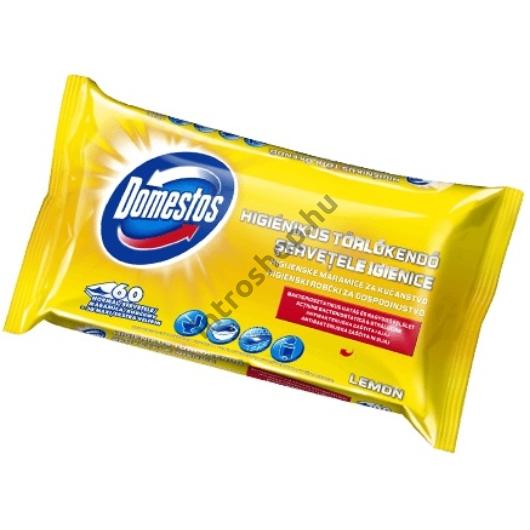 Domestos higienikus törlőkendő 60 db Citrom