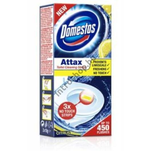 Domestos ATTAX wc tisztító csík 3x10g Citrus