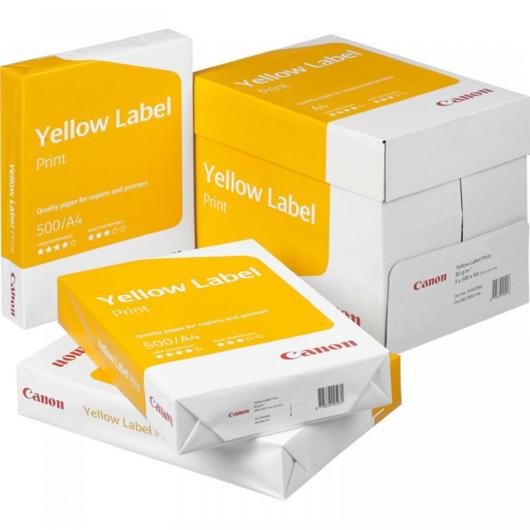 Másolópapír A/4 80g CANON Yellow Label Print 500 lap