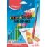 """Kép 1/2 - Színes ceruza készlet, háromszögletű, kétvégű, MAPED """"Color`Peps Duo"""", 36 különböző szín"""